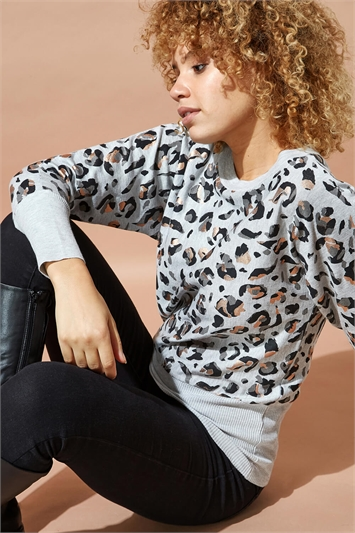 Foil Print Animal Jumper