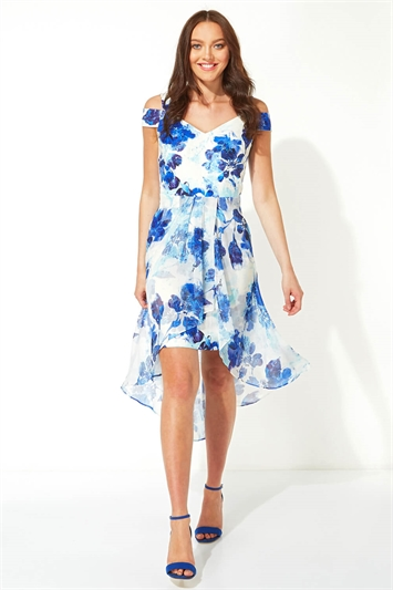 Floral Dipped Hem Midi Dress