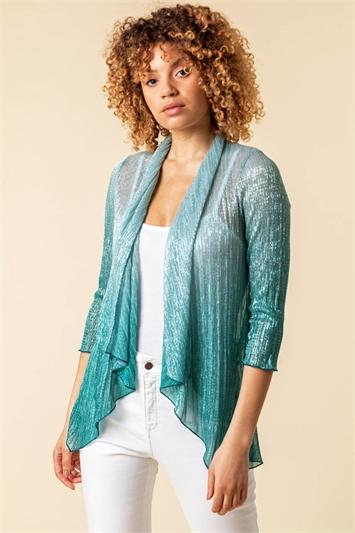 Ombre Metallic Plisse Kimono