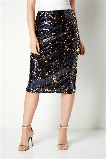 All Over Sequin Skirt