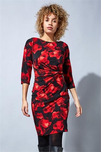 Floral Twist Waist Dress