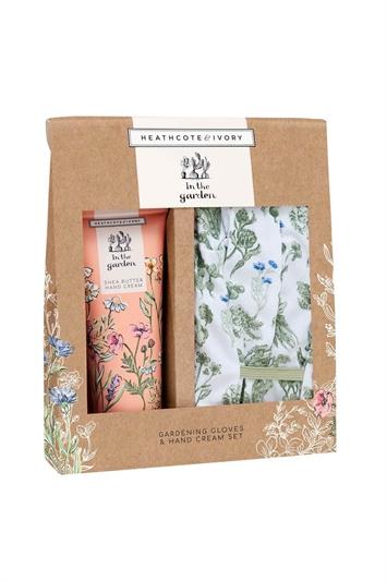 Heathcote & Ivory - In The Garden Gloves & Hand Cream Set