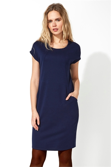Relaxed Fit Crepe Dress