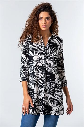Floral Palm Print Top