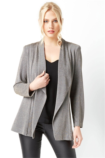 Fluted Hem Lurex Jacket