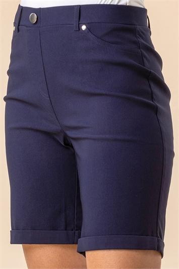 Turned Hem Stretch Shorts