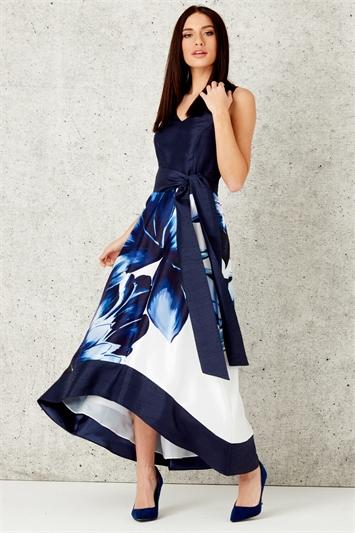 Floral Placement Maxi Dress