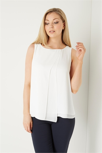 Double Layer Wrap Front Top