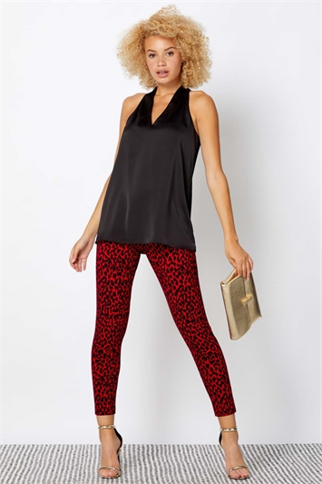 Animal Print Full Length Trousers