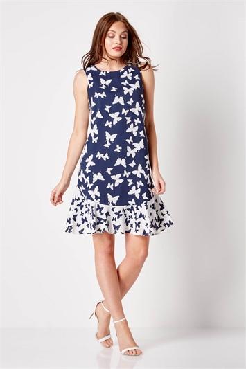 Butterfly Frill Swing Dress