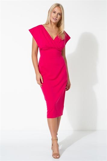 Cross Front Midi Dress