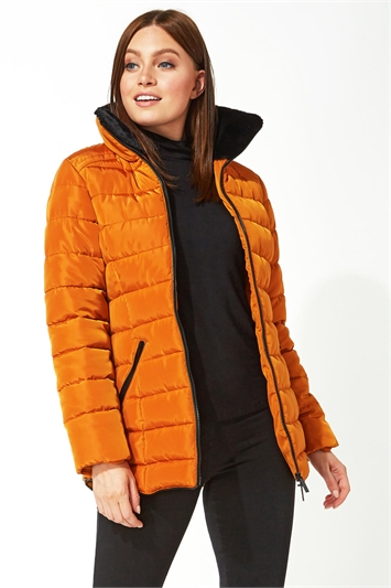 Short Zip Through Padded Coat