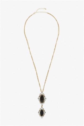 Vintage Double Gem Necklace