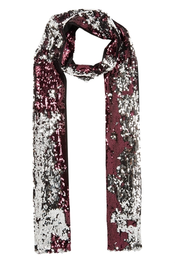 Reversible Sequin Skinny Scarf