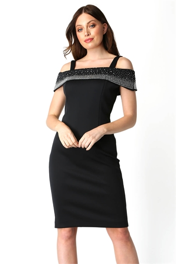 Hotfix Cold Shoulder Dress