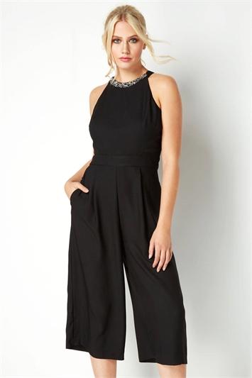 Embellished Culotte Jumpsuit
