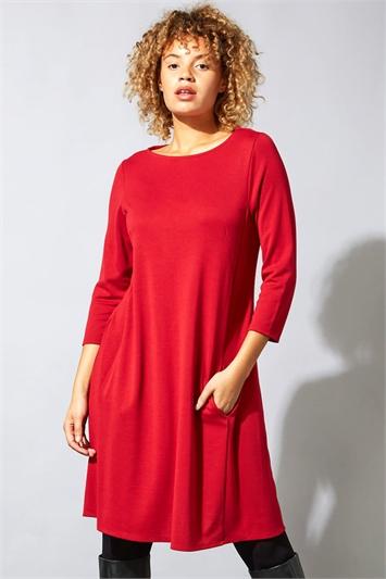 A-Line Pocket Detail Swing Dress