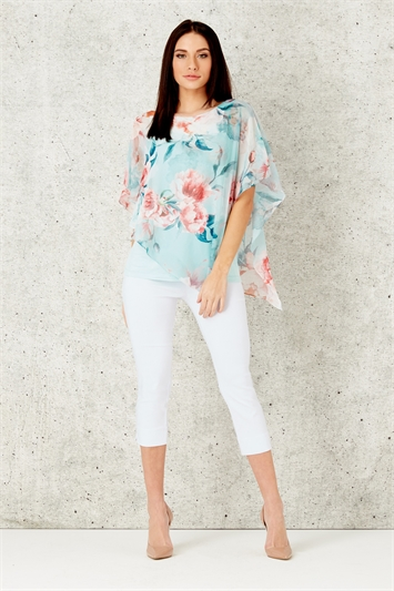 Floral Overlay Top