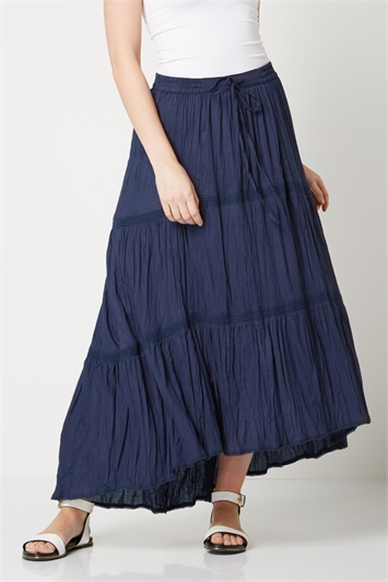 Asymmetric High Low Hem Skirt
