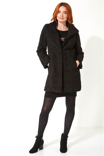 Faux Fur Longline Coat