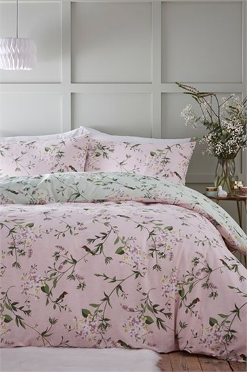 Double Hummingbird Reversible Duvet Cover Set