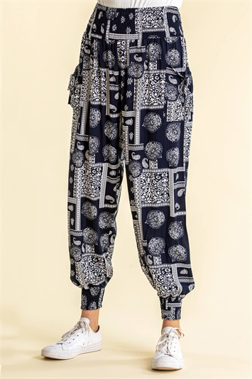Patchwork Hareem Lounge Pants