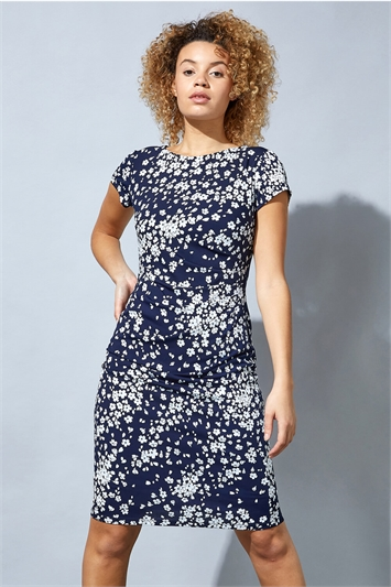 Ditsy Floral Print Shift Dress
