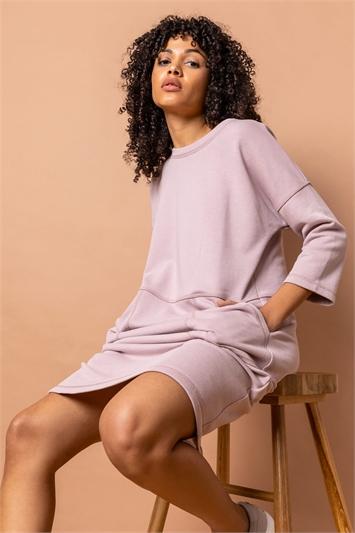 Mauve Comfy Panel Pocket Dress, Image 1 of 5