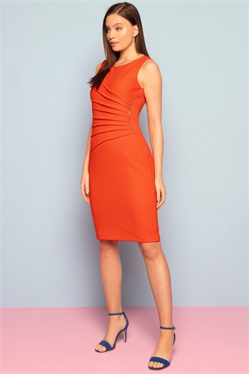 Textured Zip Detail Dress