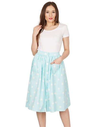 Adalene Polka Swing Skirt