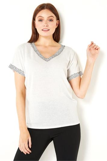 Sparkle Embellished Knit Top