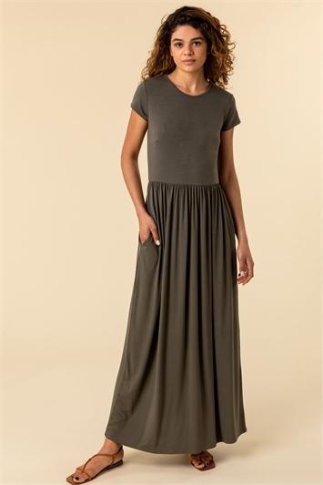 Gathered Skirt Maxi Dress