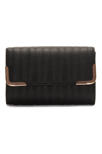 Vertical Quilted Clutch Bag