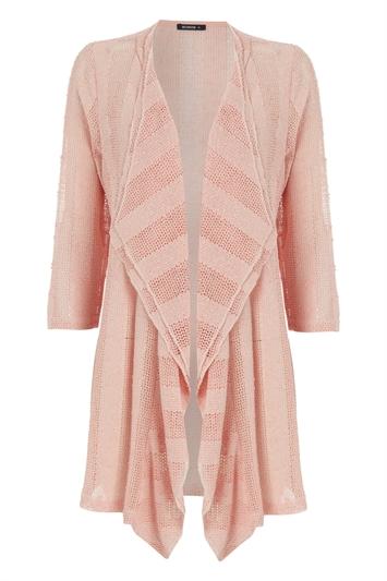 Pink Stripe 3/4 Sleeve Jacket