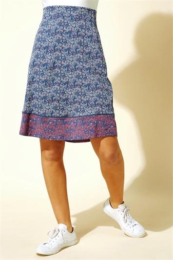 A Line Mosaic Print Skirt