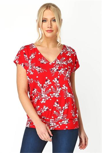 Oriental Floral Top