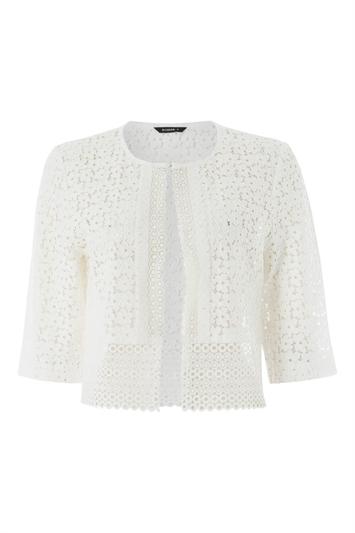 Ivory Floral Lace Border Jacket