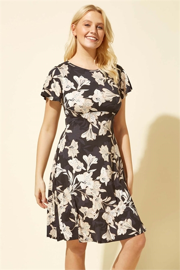 Lily Print Jersey Dress