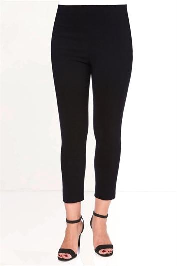 Black 3/4 Length Stretch Trouser