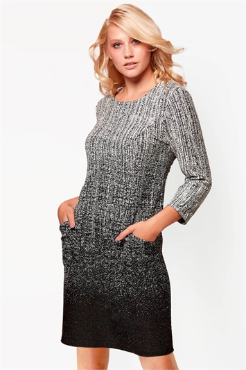 Ombre Textured Shift Dress