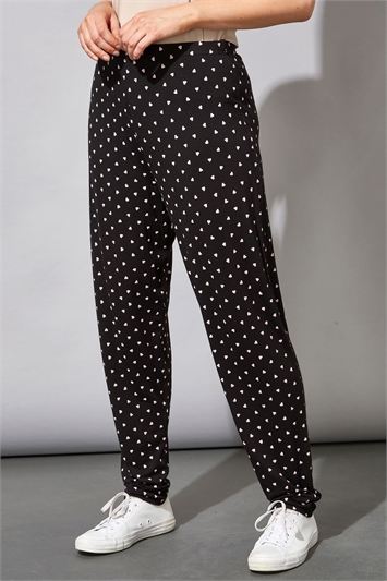 Ditsy Heart Print Lounge Pants