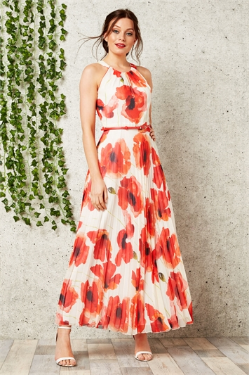 Poppy Pleat Maxi Dress