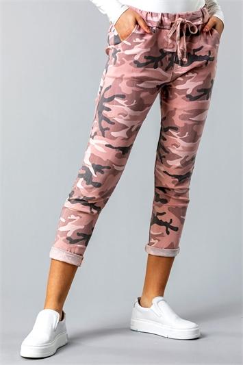 Camo Print Crinkle Lounge Pant