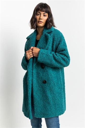 Jade Faux Fur Longline Teddy Coat