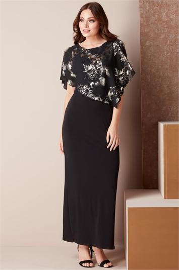 Floral Overlay Maxi Dress