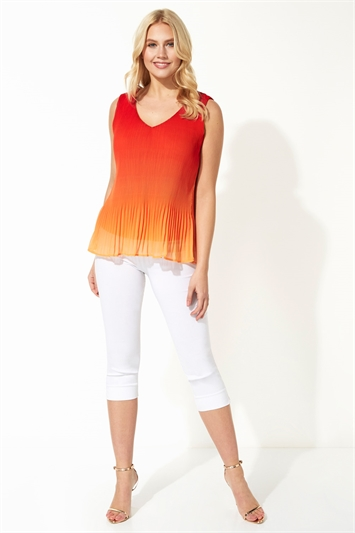 Ombre Pleated Vest Top