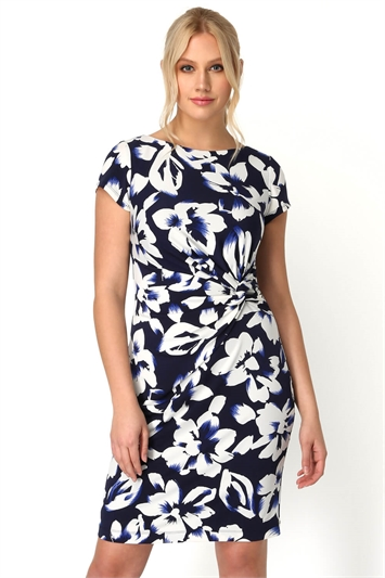 Floral Ruched Waist Dress