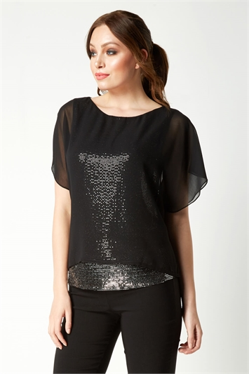 Sequin Underlay Top