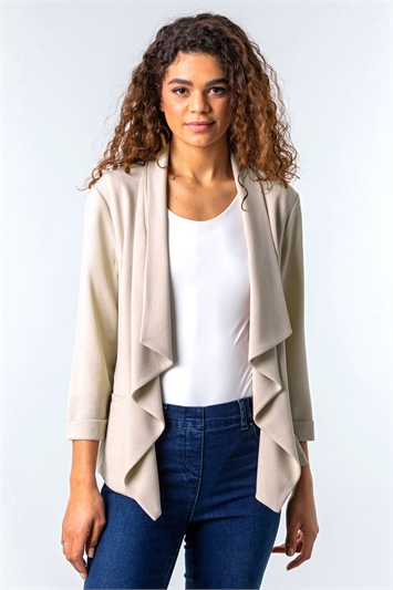 Tab Back Waterfall Jacket