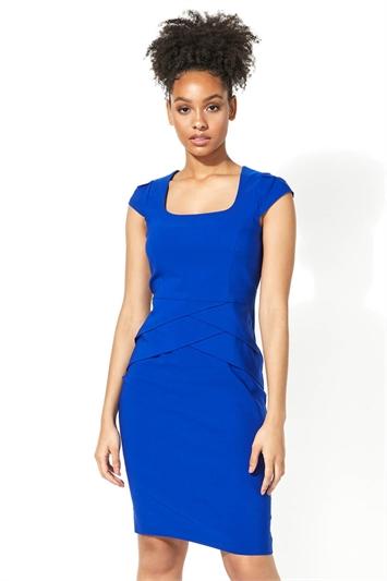 Pleat Detail Shift Dress
